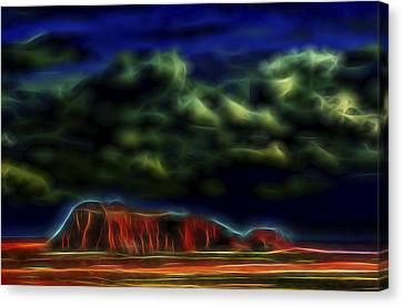Canvas Print featuring the digital art Sandstone Monolith 1 by William Horden