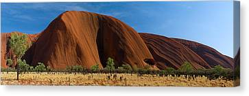 Sandstone Rock Formations, Uluru Canvas Print by Panoramic Images