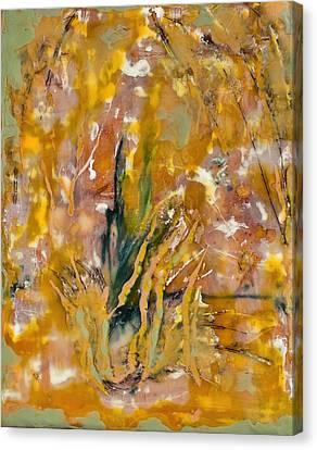 Sandstorm Encaustic Canvas Print