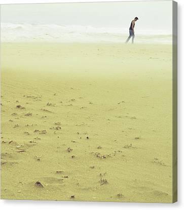 Sandstorm Minimalist Canvas Print