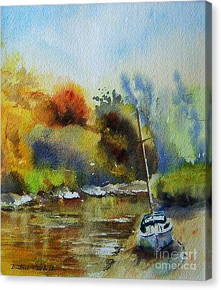 Sandwich Kent The Stour Canvas Print by Beatrice Cloake
