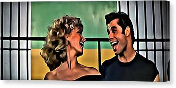 Sandy And Danny Canvas Print by Florian Rodarte
