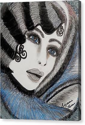 Sandy Art Deco Canvas Print by Suzanne Thomas