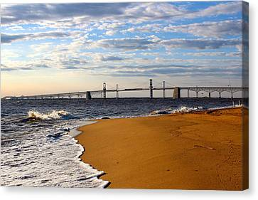 Sandy Bay Bridge Canvas Print
