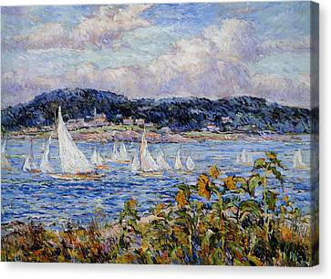 Sandy Bay Cape Ann Massachusetts Canvas Print by Beal Reynolds