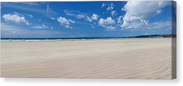 Sandy Beach, Finistere, Brittany, France Canvas Print