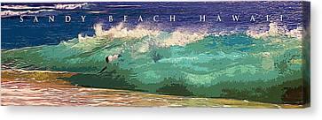 Break Fast Canvas Print - Sandy Beach Hawaii by Ron Regalado