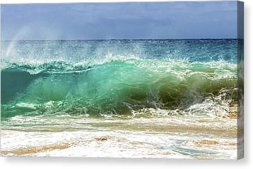 Sandy Beach Shorebreak 1 Canvas Print