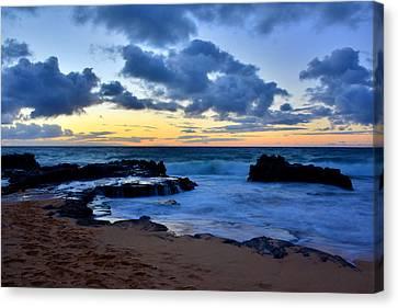 Sandy Beach Sunrise 6 - Oahu Hawaii Canvas Print by Brian Harig