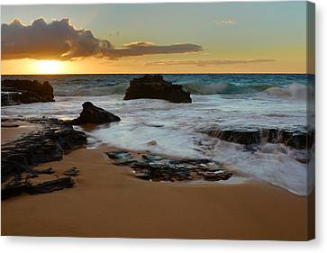 Sandy Beach Sunrise 7 - Oahu Hawaii Canvas Print by Brian Harig