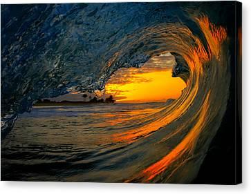 Surf Canvas Print - Sandy Beach Sunrise by Gregg  Daniels