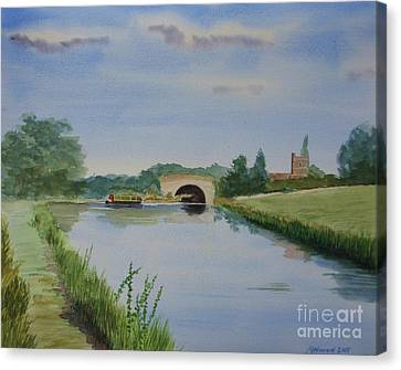 Canvas Print featuring the painting Sandy Bridge by Martin Howard