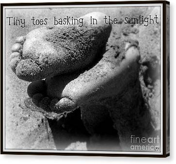 Canvas Print featuring the photograph Sandy Feet by Heidi Manly