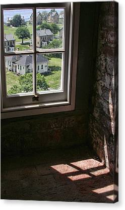 Canvas Print featuring the photograph Sandy Hook View From The Lighthouse by Gary Slawsky