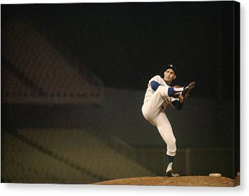 Pitcher Canvas Print - Sandy Koufax High Kick by Retro Images Archive