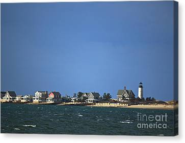 Sandy Neck Light Canvas Print by Amazing Jules