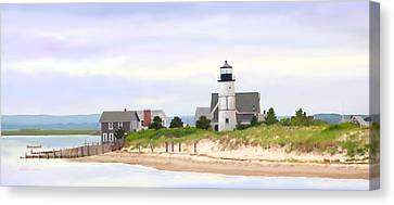 Sandy Neck Lighthouse Canvas Print by Michelle Wiarda
