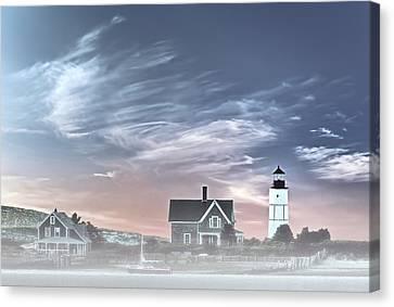 Sandy Neck Lighthouse Canvas Print by Susan Candelario