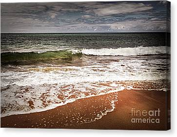 Sandy Ocean Beach Canvas Print