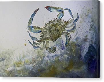 Sandy Surfer Canvas Print by Nancy Gorr