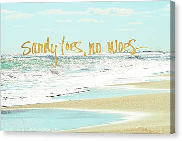 Sandy Toes, No Woes Canvas Print by Bruce Nawrocke