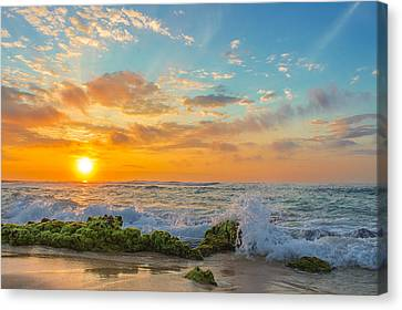 Sandy Beach Sunrise 3 Canvas Print