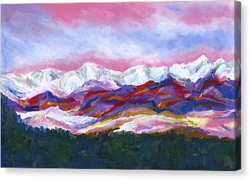Sangre De Cristo Mountains Canvas Print