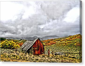 Sangre De Cristos Canvas Print by Rebecca Adams