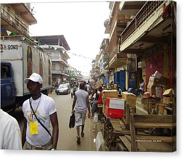 Canvas Print featuring the photograph Sani Abacha Street- Year 2011 by Mudiama Kammoh