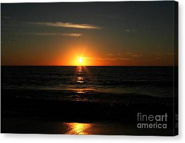 Sanibel At Sunset Canvas Print