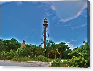 Canvas Print featuring the photograph Sanibel Island Lighthouse by Timothy Lowry