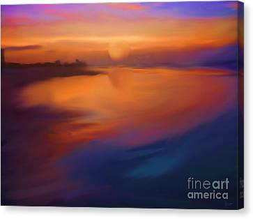 Sanibel Sunrise Canvas Print by Jeff Breiman