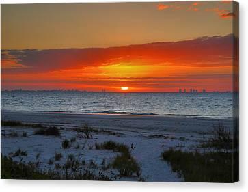 Sanibel Sunrise Xxiii Canvas Print by Steven Ainsworth
