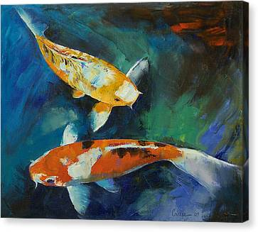 Sanke Koi Painting Canvas Print by Michael Creese