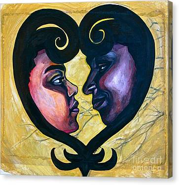 Canvas Print featuring the painting Sankofa Love by Gabrielle Wilson-Sealy