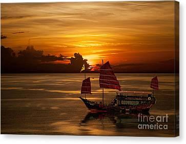 Sanpan Sunset Canvas Print