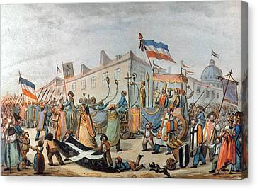 Sans-culottes Parade, 1793 Canvas Print by Granger