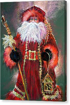 Santa As Father Christmas Canvas Print by Shelley Schoenherr