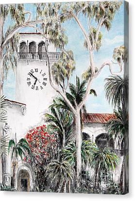 Santa Barbara Clock Tower Canvas Print