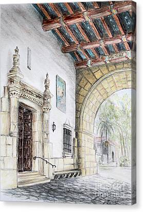 Santa Barbara Courthouse Arch Canvas Print