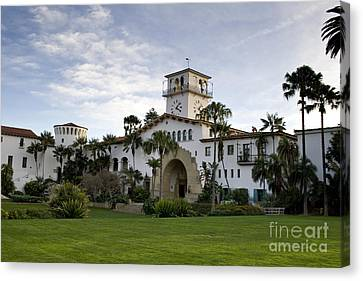 Canvas Print featuring the photograph Santa Barbara by David Millenheft