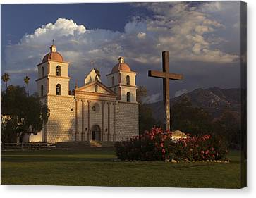 Canvas Print featuring the photograph Santa Barbara Mission Mg_6324 by David Orias