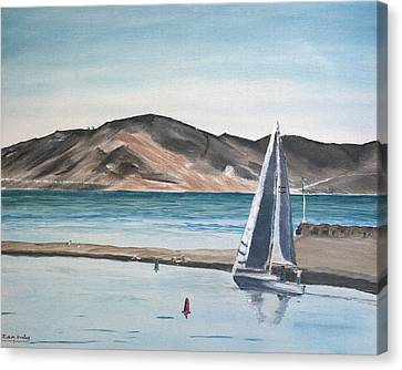 Santa Barbara Sailing Canvas Print by Ian Donley