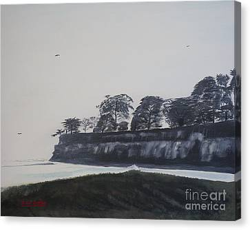 Canvas Print featuring the painting Santa Barbara Shoreline Park by Ian Donley