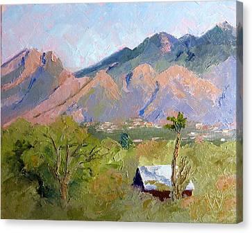 Santa Catalinas Canvas Print by Susan Woodward