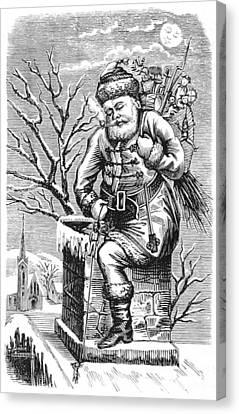 Santa Claus, 1875 Canvas Print