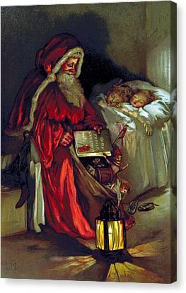 Santa Claus, 1888 Canvas Print