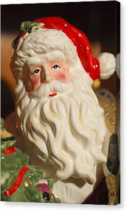 Santa Claus - Antique Ornament - 19 Canvas Print by Jill Reger