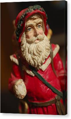 Santa Claus - Antique Ornament - 21 Canvas Print by Jill Reger