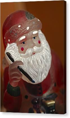 Santa Claus Canvas Print - Santa Claus - Antique Ornament - 24 by Jill Reger